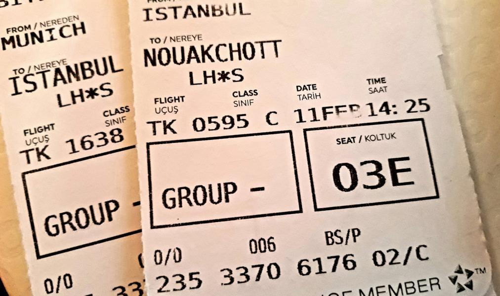 Rückreise Ticket